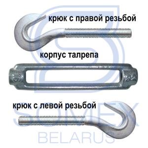 Схема талрепа крюк-крюк DIN 1480