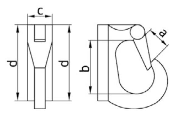 Чертеж крюка с приварочной площадкой