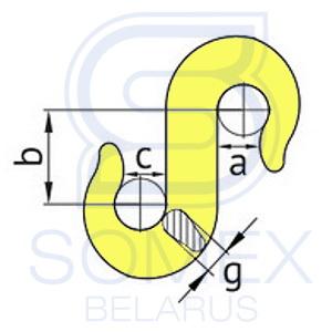 Чертеж S-образного крюка