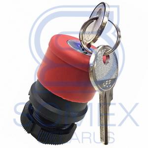 Кнопка красная с ключом для пульта
