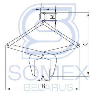 Чертеж автоматического захвата для бордюрного камня ЗКБ(А)