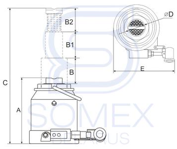 Домкрат ДГ-10 двухплунжерный чертеж