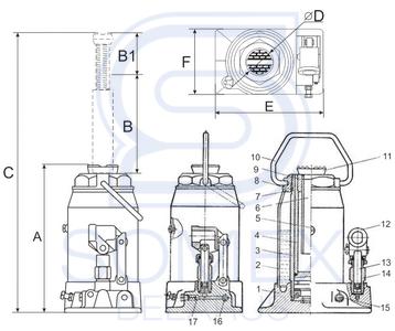 Домкрат ДГ-12 чертеж