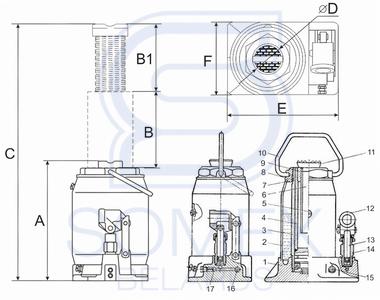 Домкрат ДГ-25 чертеж