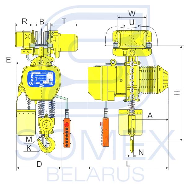 Таль ТЭЦп-5,0-02 чертеж